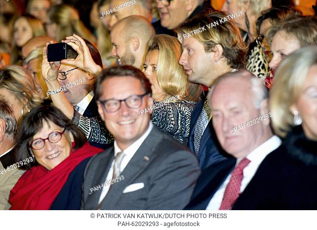 Princess Mabel and Prince Floris (both C) attend the closure event of the celebration of 200 years kingdom of the Netherlands at Carre at the Amstel in...