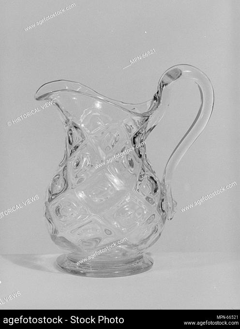 Creamer. Date: 1850-70; Geography: Probably made in Pittsburgh, Pennsylvania, United States; Culture: American; Medium: Pressed glass