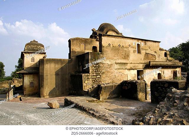 Exterior view of Dauji ki kothi, Orchha Fort complex, Orchha, Tikamgarh District, Madhya Pradesh, India
