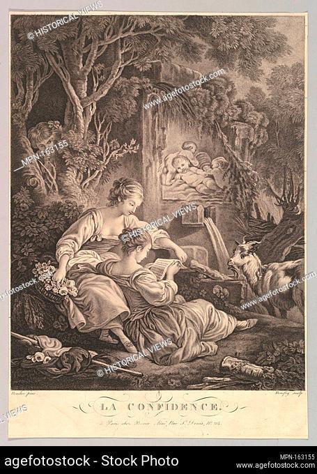 The Secret. Artist: Jacques Bonnefoy d'Arles (French, Arles 1755-1828 Paris); Artist: After François Boucher (French, Paris 1703-1770 Paris); Publisher: Bance...