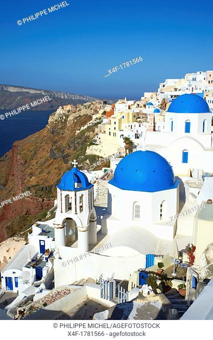 Greece, Cyclades, Santorini island, Oia or Ia village