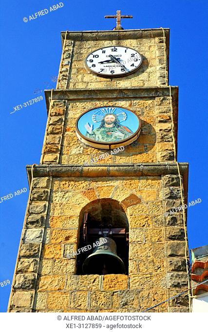bell tower of the church of Sacro Cuore di Gesu, Avigliano, Potenza, Italy