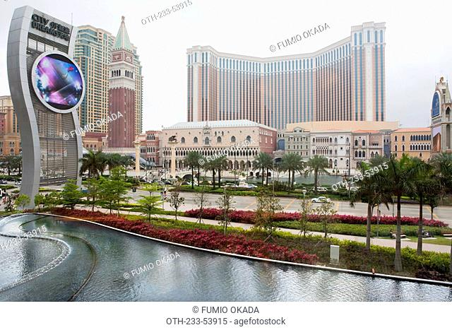 Overlooking The Venetian hotel and casino from City of Dreams, Taipa, Macau