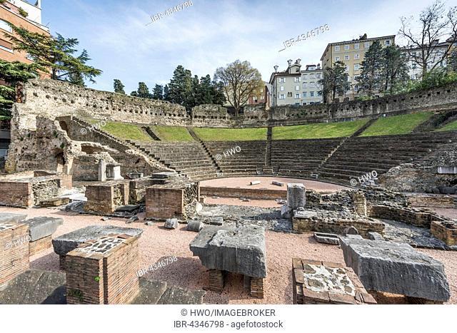 Roman Theatre, venue of the annual Teatro Romano Festival, Trieste, Friuli-Venezia Giulia, Italy