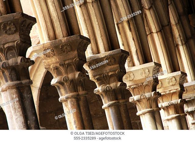 St Anna's Church, detail, Romanesque, Barcelona, Catalonia, Spain