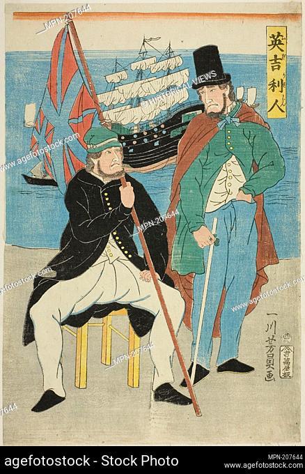Englishmen (Igirisujin) - 1861 - Utagawa Yoshikazu Japanese, active c. 1850–70 - Artist: Utagawa Yoshikazu, Origin: Japan, Date: 1861