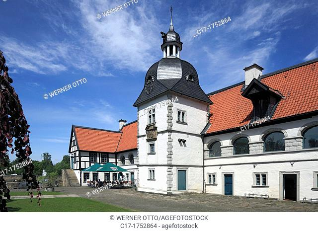Germany, Dortmund, Ruhr area, Westphalia, North Rhine-Westphalia, NRW, Dortmund-Aplerbeck, House Rodenberg, moated castle, baroque, Volkshochschule