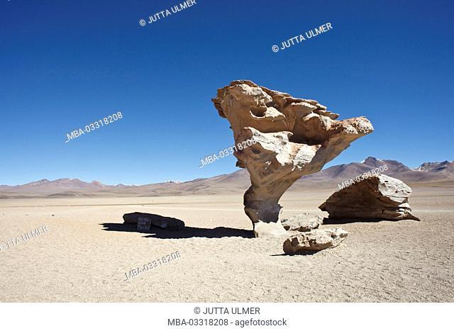 Bolivia, Los Lipez, Desierto de Siloli, Arbol de Piedra