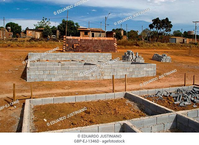 Construction of Popular Neighborhood, City, Goiânia, Goiás, Brazil