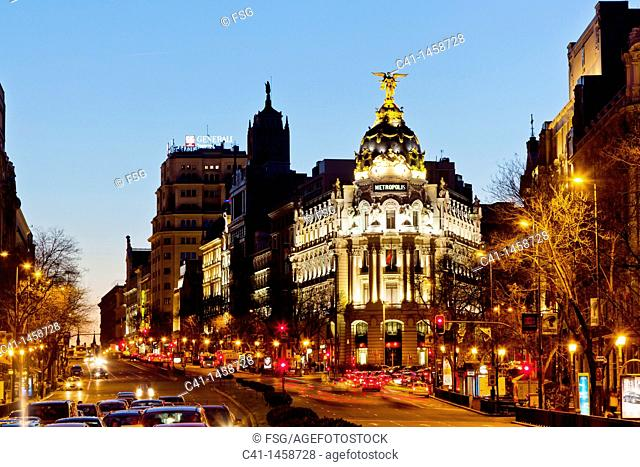 La Gran Vía  Madrid, Spain