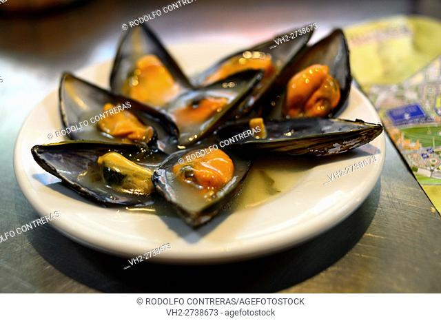 Mussels, restaurant in Burgos