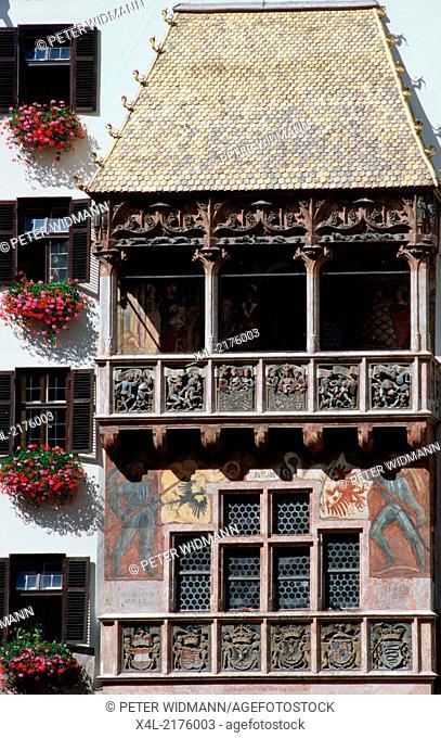 Goldenes Dachl, city of Innsbruck, Austria, Tyrol, Innsbruck, city view