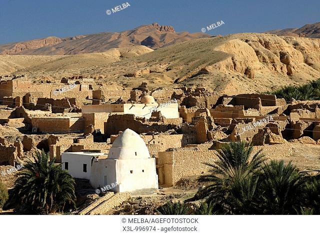 Old town  Tamerza  Tunisia