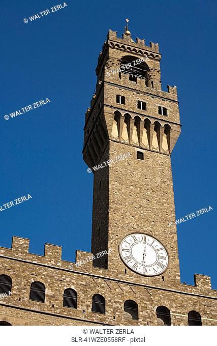 Low angle view of Palazzo Della Signoria