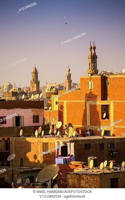 Higher view of Cairo city, Cairo, Egypt