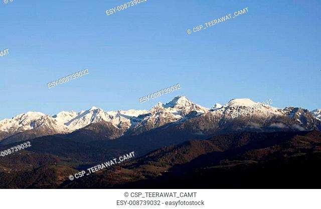 Mountain at Grenoble City (Provence - Alpes, France)