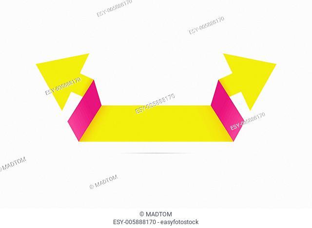 The fresh origami double arrow