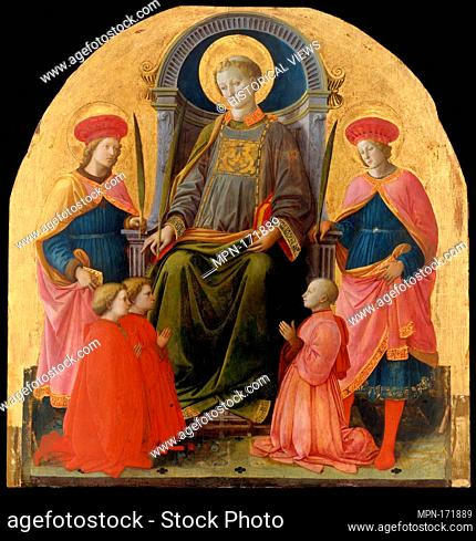Saint Lawrence Enthroned with Saints and Donors. Artist: Fra Filippo Lippi (Italian, Florence ca. 1406-1469 Spoleto); Medium: Tempera on wood