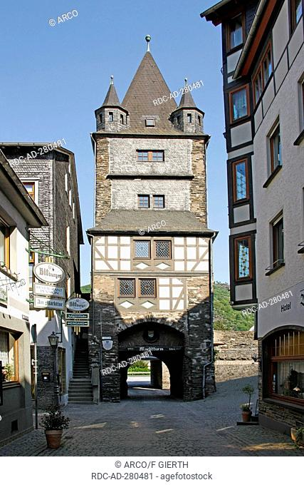 Market tower, Bacharach, Rhineland-Palatinate, Germany / Marktturm