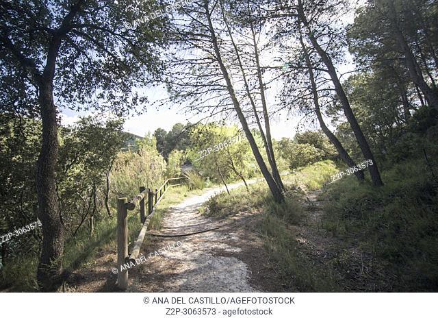 El Bosquet reservoir L Olleria. Valencian community. Spain