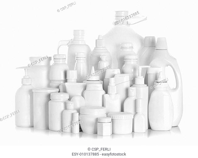 still life portrait of a group of product packaging
