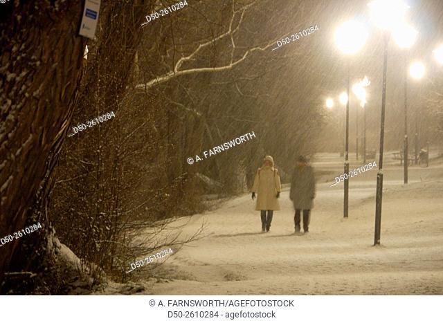 STOCKHOLM SWEDEN Trekanten park in the snow