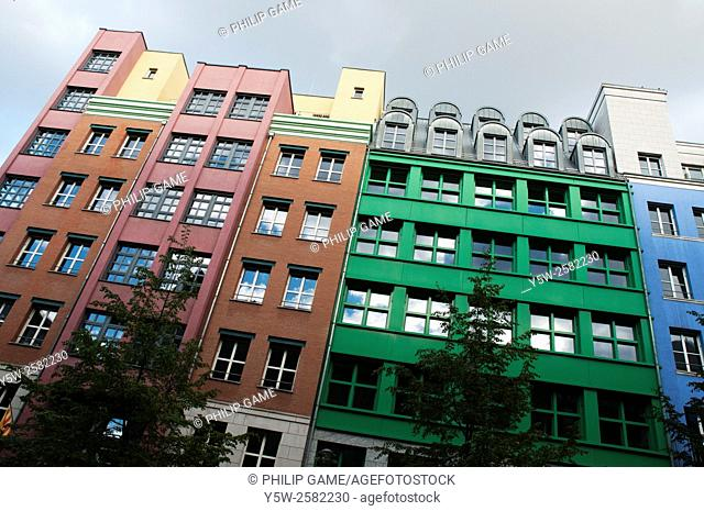 Modern architecture in the Mitte district of central Berlin