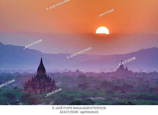Myanmar , Mandalay Province ,Bagan City ,Sunrise
