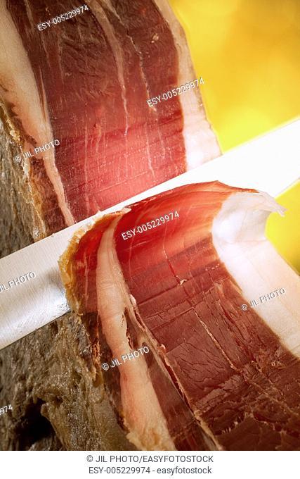 Iberian ham slicing knife