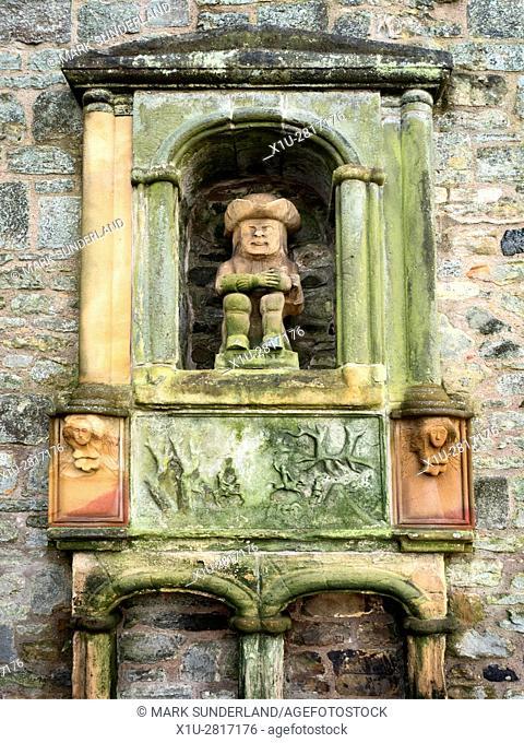 The Provost Statue Depicting Revd Thomas Buchanan Last Church Provost of Ceres Fife Scotland