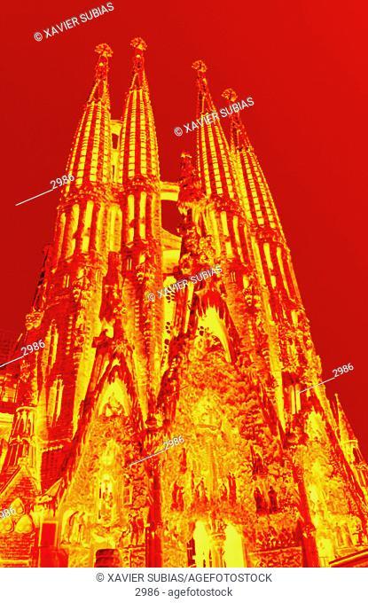 Templo de la Sagrada Familia. Barcelona. Spain