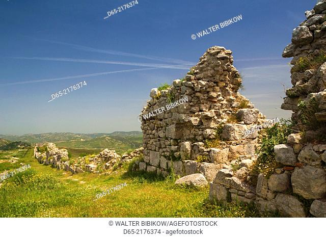 Albania, Ballsh, ruins of the Illyrian city of Byllis, 4th century BC