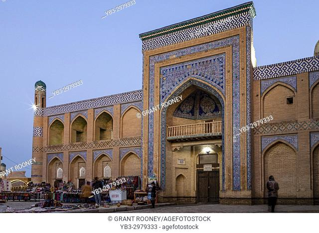 Colourful Souvenirs For Sale Outside The Islam Khoja Madrassa, Khiva, Uzbekistan