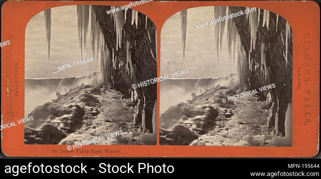 Below Table Rock winter. Curtis, George E. (d. 1910) (Photographer). Robert N. Dennis collection of stereoscopic views United States States New York Niagara...
