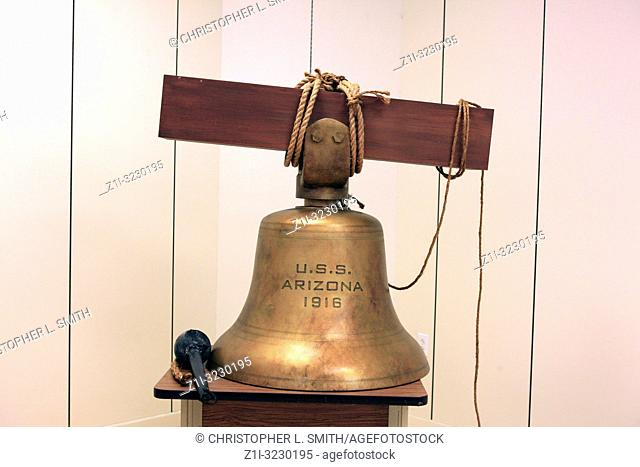 The bell from the USS Arizona recovered from Pearl Harbor now at the University of Arizona in Tucson