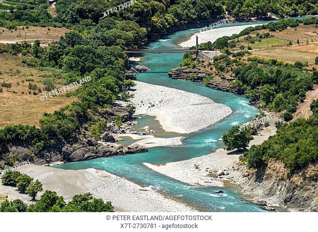 The Vjose river (Aoos river in Greek) near Permet in southern Albania