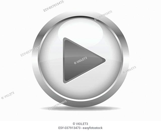 Web button with grey play sign