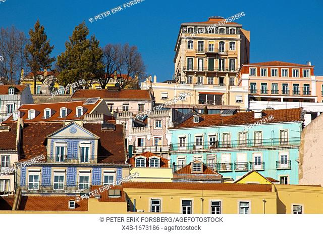 Chiado district central Lisbon Portugal Europe