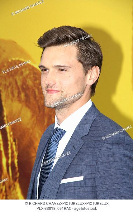 """Hartley Sawyer at the Warner Brothers Pictures World Premiere of """"""""Godzilla King Of The Monsters"""""""". Held at the TCL Chinese Theater in Hollywood, CA, May 18"""