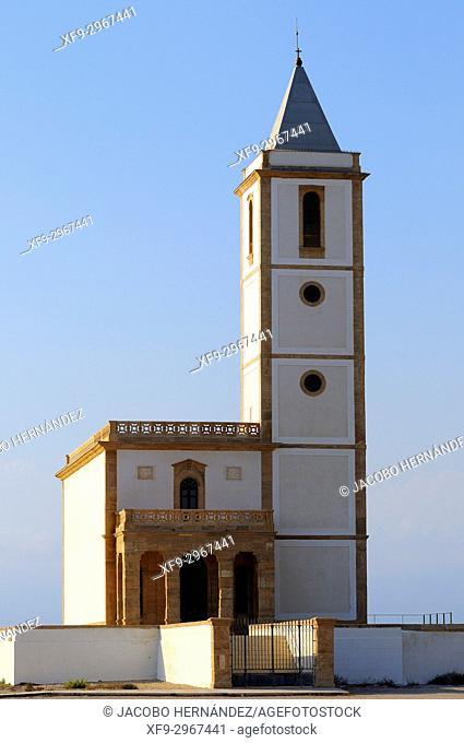 Church of Las Salinas. La Almadraba de Monteleva. Cabo de Gata-Níjar Natural Park. Almería province. Andalusia. Spain