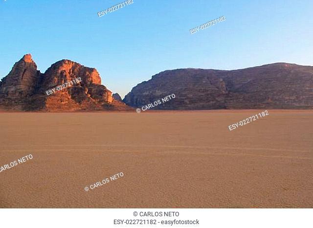 Wadi Rum Desert beautiful landscape. Jordan
