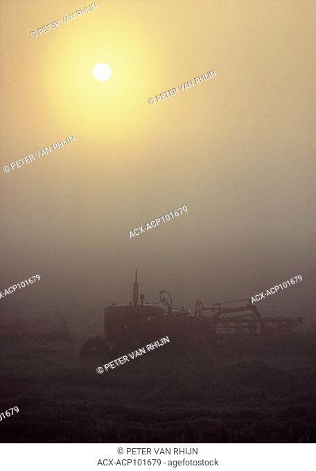 Tractor in Fog. Bruce Peninsula