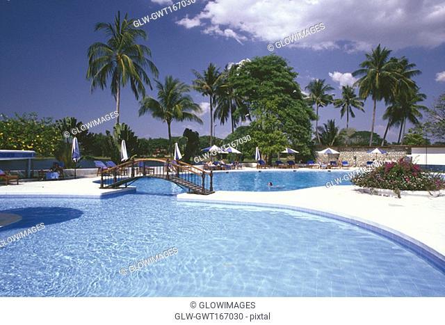 Swimming pool of a hotel, Inya Lake Hotel, Yangon, Myanmar