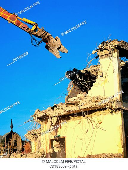 Shopping complex being demolished