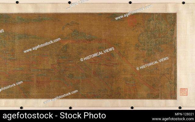 Landscape of Qin Palaces. Artist: Unidentified Artist; Artist: In the style of Zhao Boju (Chinese, 11th century); Period: Ming dynasty (1368-1644) or earlier;...