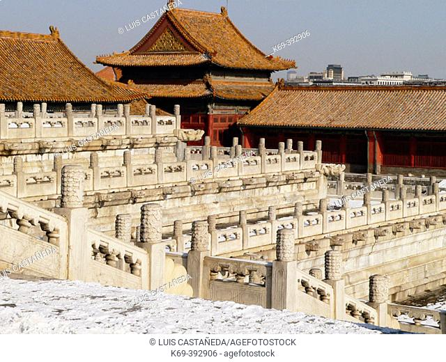 The Forbidden City (after a snowfall). Beijing. P.R. of China