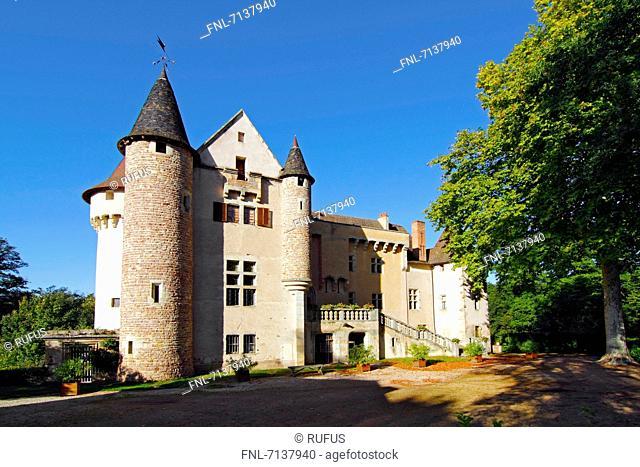 Château d'Aulteribe, Departement Puy-de-Dome, Auvergne, France, Europe