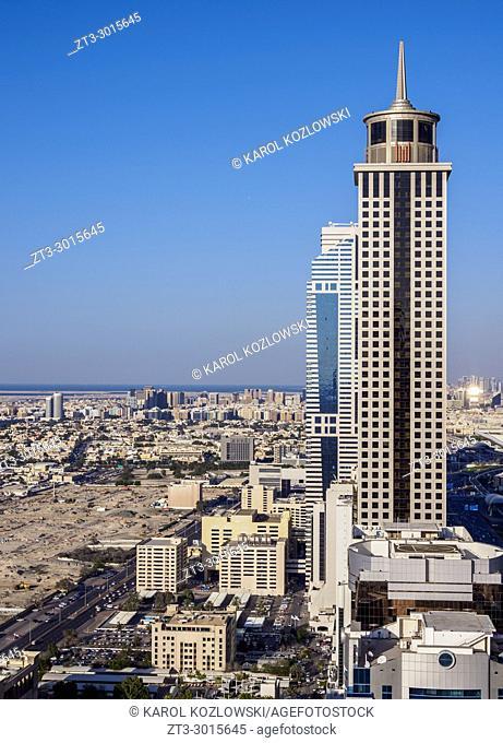 Dubai International Financial Centre, elevated view, Dubai, United Arab Emirates