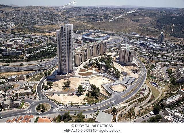 Aerial photograph of the Holyland realestate project in western Jerusalem