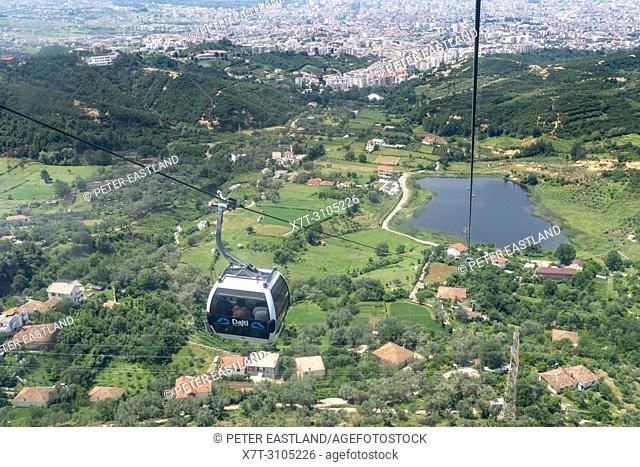 The Dajti Ekspres cableway which carries passengers up to Mount Dajti National Park on the edge of Tirana, Albania,